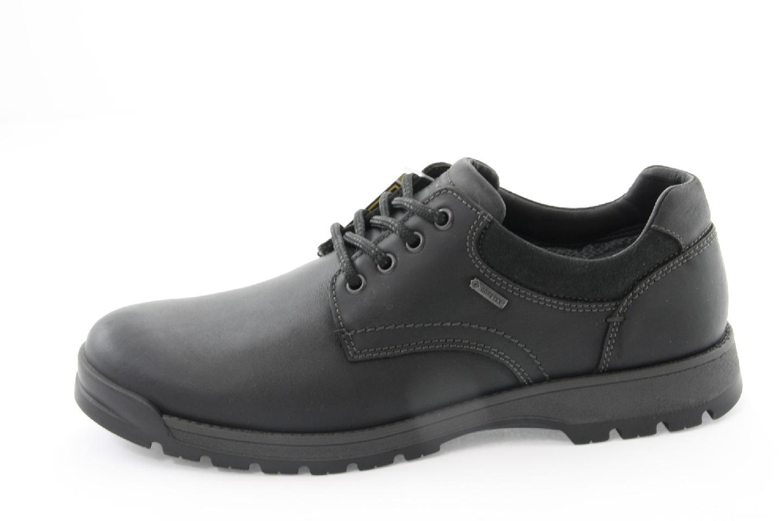 3818d3b83799 ARA - Poltopánky - Čierne kožené topánky so šnurovaním Ara men