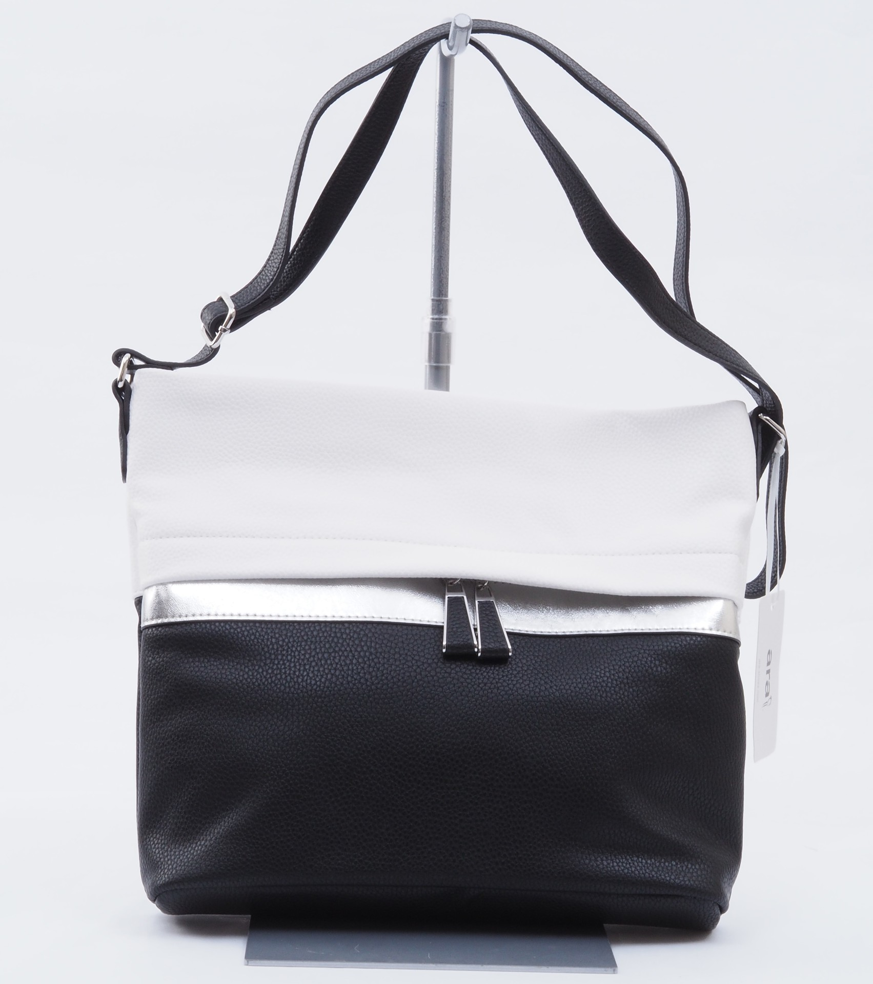 ARA - Dámske kabelky - Dámska kabelka cez telo (crossby) čierna 58b2f25f12c