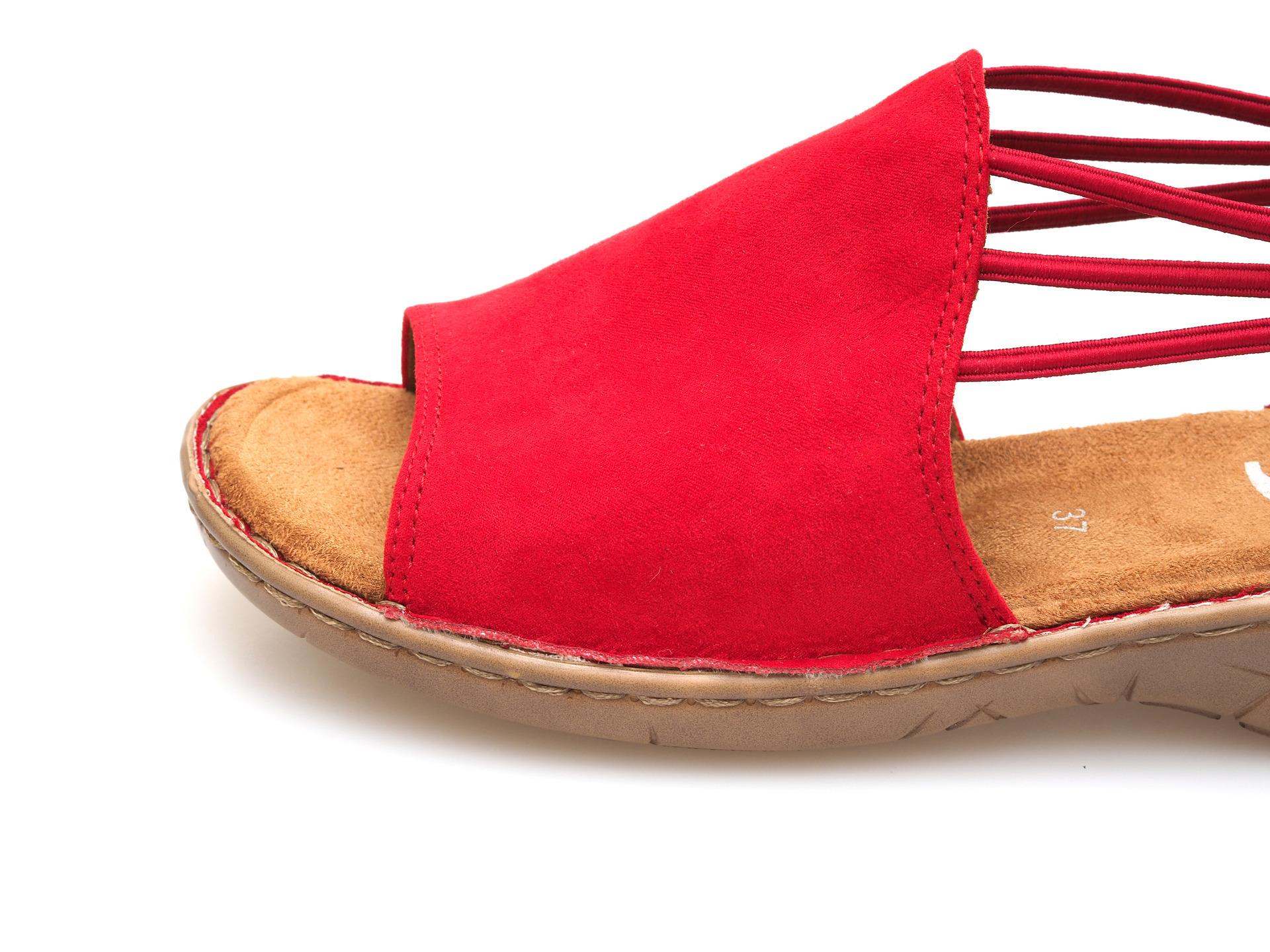 fd0b7d306d25c ARA - Sandále - Červené dámske sandále na nízkom podpätku značky Jenny