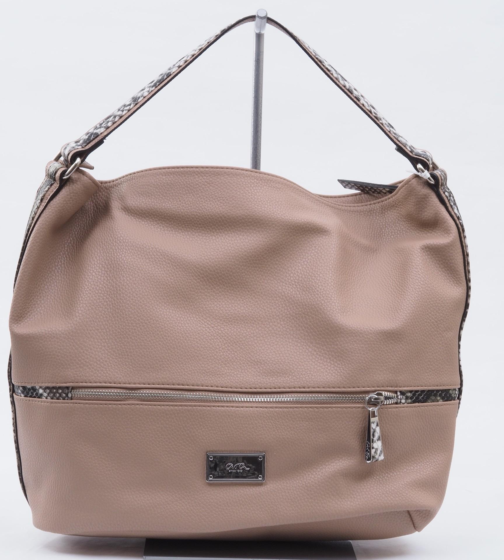ARA - Dámske kabelky - Dámska kabelka cez plece béžová 27a29ffaacd