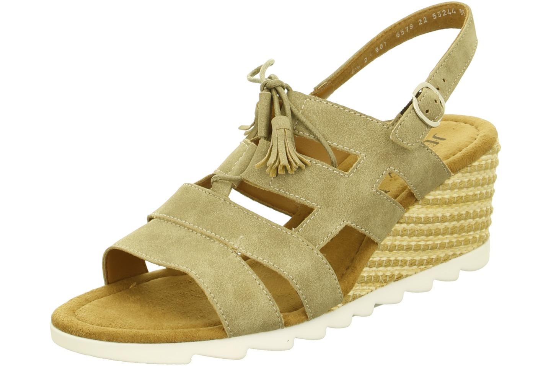 a0fee19b60 ARA - Sandále - Dámska otvorená sandála na klinovom podpätku hnedá