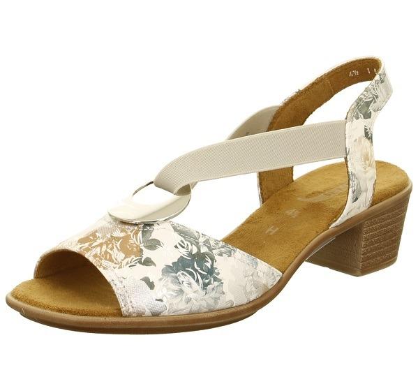f45fba6d7 Dámske otvorené sandále na nízkom podpätku značky Ara - farba biela káva