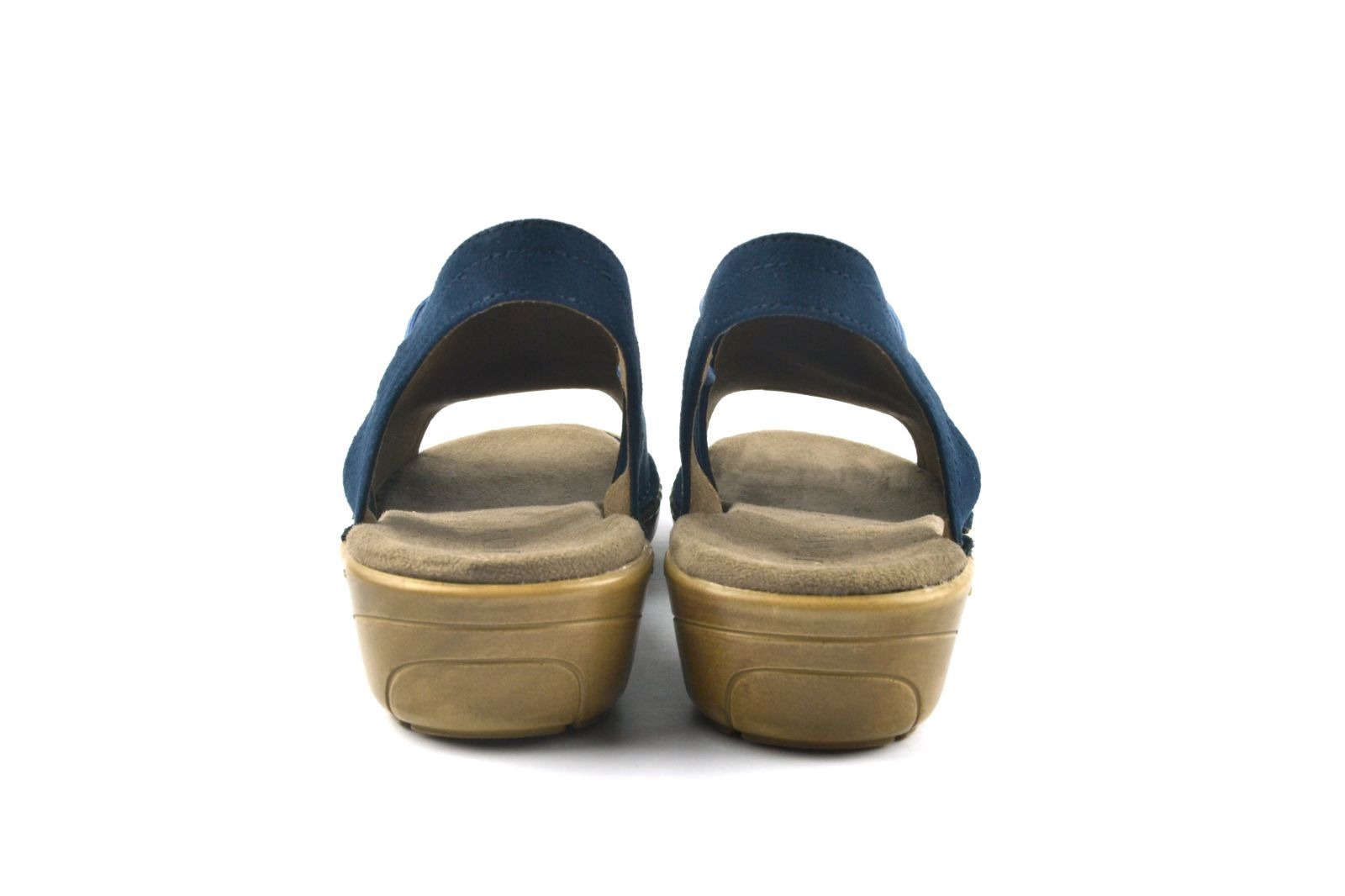 8e0a461aa3 ARA - Sandále - Modré dámske sandále na leto na nízkom podpätku ...