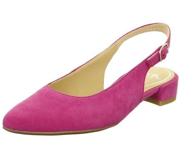 1aee6b8df39a ARA - Sandále - Ružové dámske uzatvorené sandále na nízkom podpätku ...