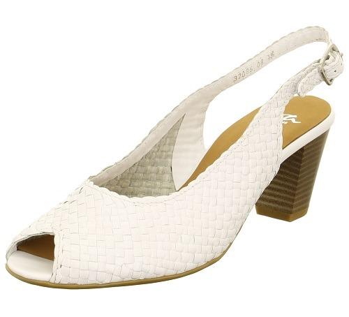 cbfac81991 ARA - Sandále - Biele dámske otvorené sandále na leto Ara