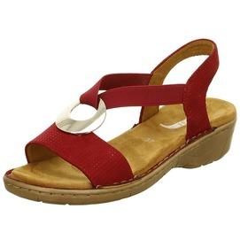 40c896329 Červené dámske sandále na nízkom podpätku značky Ara ...