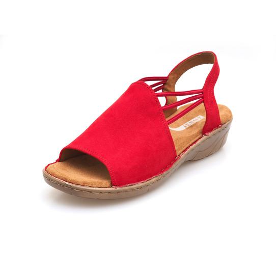 df1f8bddd5 Nová kolekcia obuvi Ara. Červené dámske sandále na nízkom podpätku značky  Jenny ...