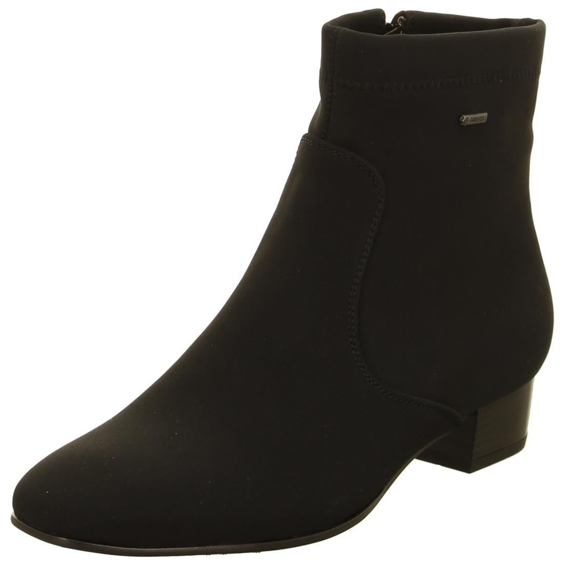 a4df747a18 ARA - Kotníčky - Čierna dámska obuv členková značky Ara