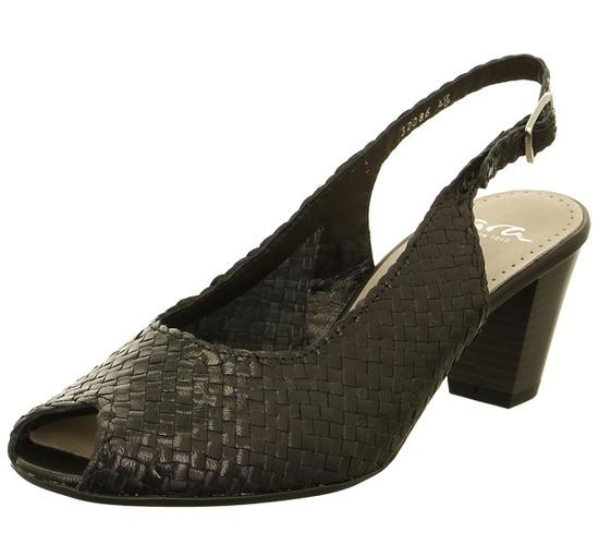 6d84926015 ARA - Sandále - Čierne dámske otvorené sandále na vysokom podpätku značky  Ara