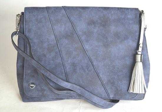 36c26e37c4 ARA - Dámske kabelky - Modrá dámska kabelka cez telo (crossby ...